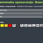 Stiže nevrijeme u Bosnu i Hercegovinu, na snazi žuti meteoalarm