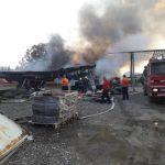"""Vatrogasci se i dalje bore s požarom u fabrici namještaja """"Forte fleks"""""""